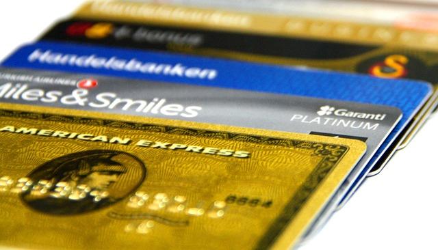 Vier Kreditkartentypen