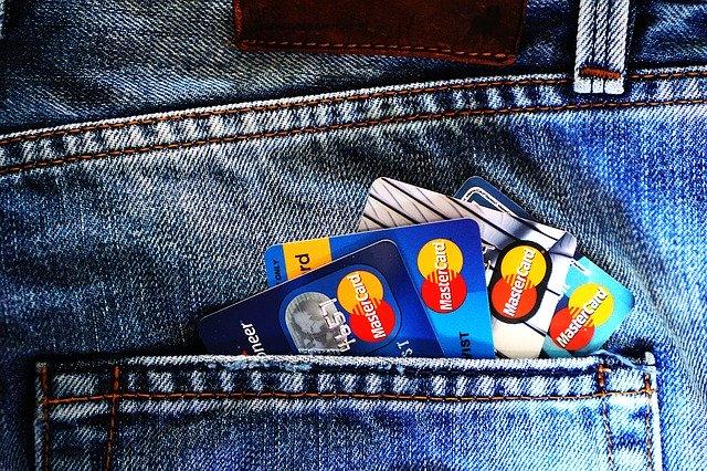 Vier Kreditkarten